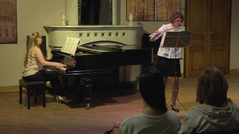Сонатина для флейты и фо но Оп 61 часть 2 С Джордан Черникова Ирина Флейта рояль Анна Махова