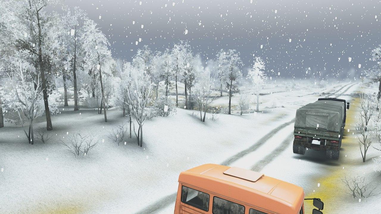 Карта Зимний сезон + Падающий снег SPIN TIRES 3-scMak0EQw