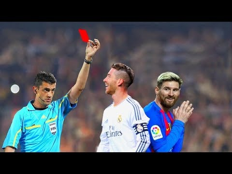 Footballers who got Red Card by Fouls vs Lionel Messi