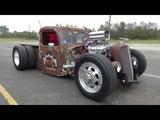 Blown 1935 Ford Dually Rat Rod Truck - Rust Rebellion