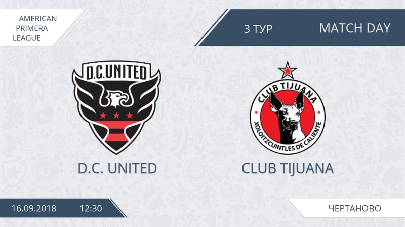 AFL18. America. Primera. Day 3. D.C. United - Club Tijuana.