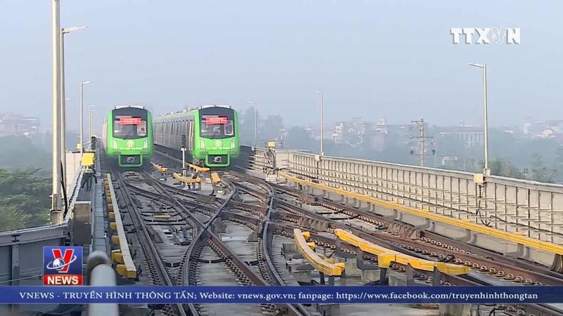 Chạy thử toàn tuyến đường sắt Cát Linh - Hà Đông