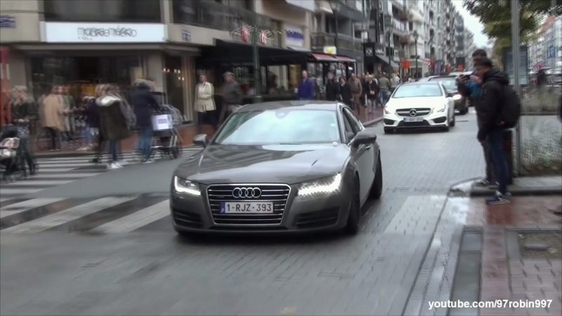 Bagged Audi A7 w custom exhaust by Maq Racing accelerations, sounds
