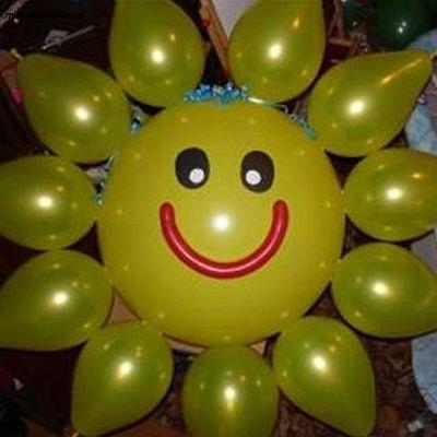 Солнце из шаров мастер класс с пошаговым фото