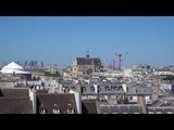 Вид на Париж со смотровой площадки центра Помпиду