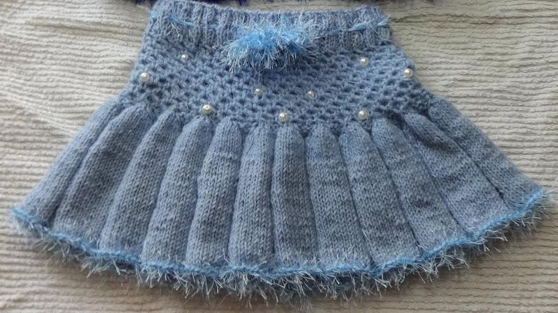 Юбочка юбка на девочку 3 года Вязание спицами