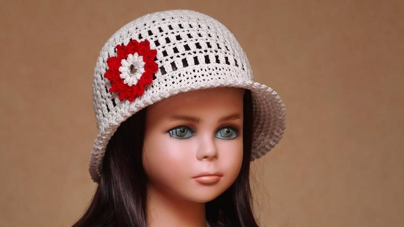 Шляпа крючком Как связать летнюю шляпу крючком