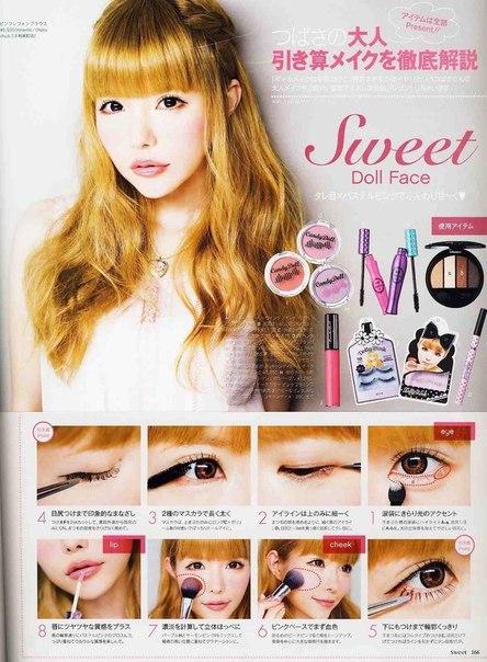Белый карандаш для глаз макияж