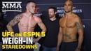 UFC on ESPN 5 Weigh-In Staredowns - MMA Fighting