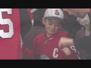 Brady tkachuk presents 7-year-old with birthday gift