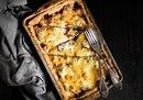 Открытый пирог с лисичками