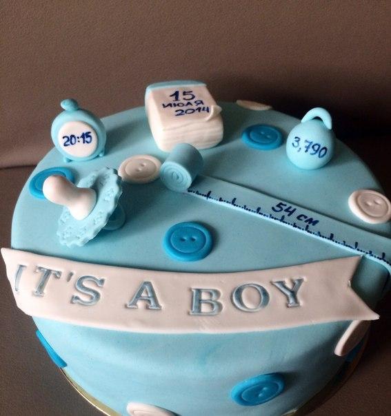 Фото тортиков на рождение малыша