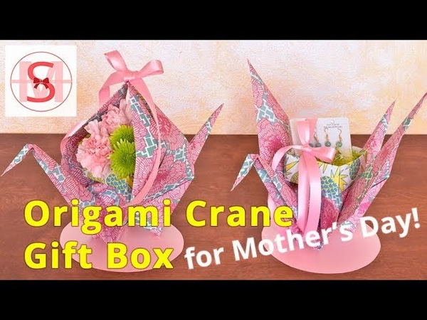 Wrappily Paper Guru ♻️ Crane Gift Wrapping for Mother's Day