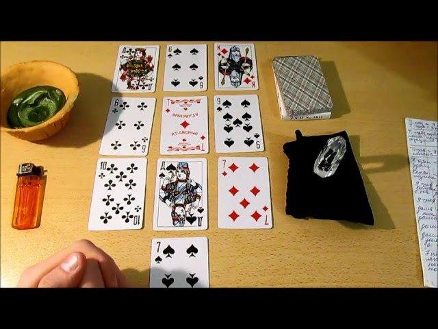 Гадание на Порчу Сглаз Проклятие Игральные карты 36 листов Пример расклада