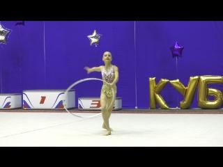 Маслюкова Виолетта Обруч (2007 г.р.) 1 место весенний кубок г. Краснодар