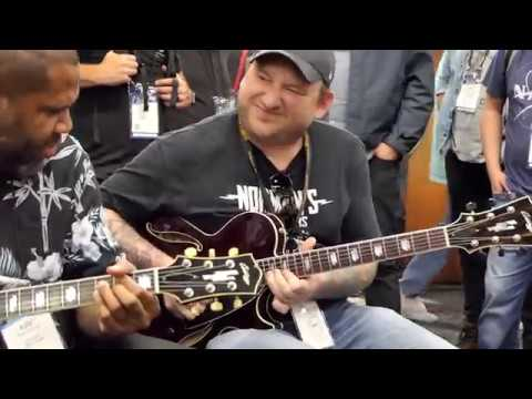 Josh Smith Kirk Fletcher Ariel Posen Crosscut Saw Jam Collings Guitars Booth NAMM 2019