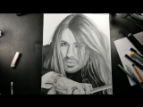 Дэвид Гарретт рисунок карандашом!