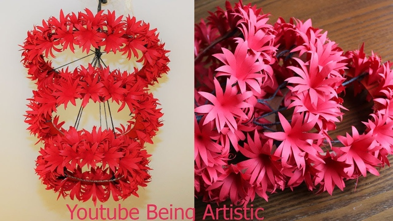 DIY - Simple Home Decor - Hanging Flowers - Paper Craft - Home Decorations