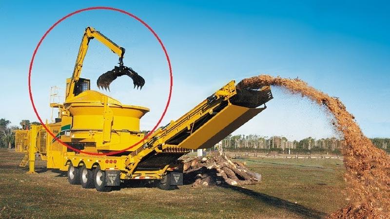驚人的木材粉碎機,這效率勝過普通機械好幾倍!