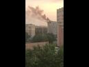 Минск 02/06/2018 пожар в октябрьском районе в доме возле площади Казинца,около 21:15 вечера.