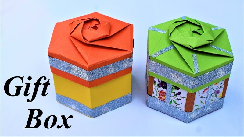 Gift Box | how to make a gift box| gift box ideas | crafts on paper