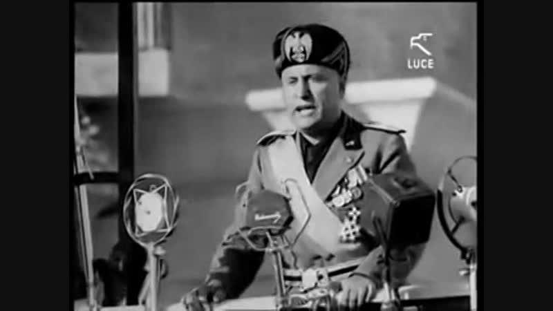 Discorso di Duce Benito Mussolini a Taranto nel 1934