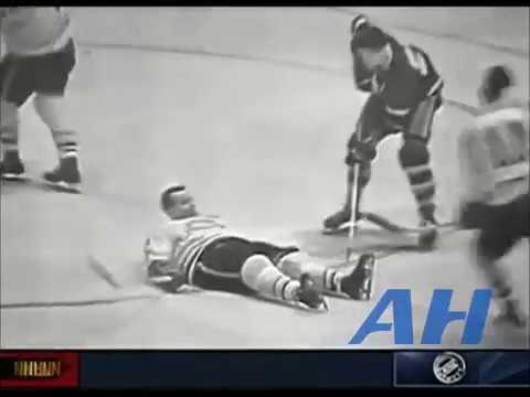 NHL Apr. 14, 1959 Billy Harris,TOR v Ralph Backstrom,MTL (R) Toronto Maple Leafs Montreal Canadiens