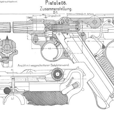 ствол пистолет макарова чертеж
