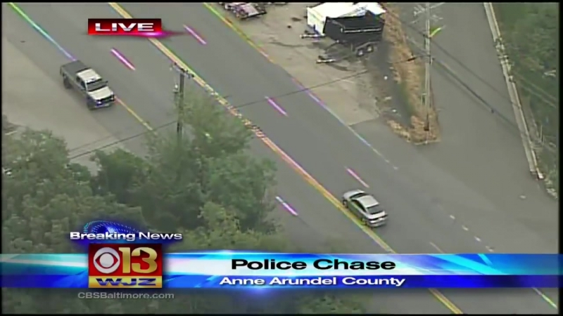 Police Pursuit Ends With Crash In West Baltimore