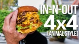 Homemade In-N-Out Burger 4x4 (Animal Style) SAM THE COOKING GUY 4K