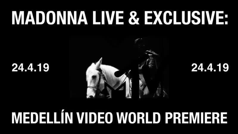 3 days until Medellín on MTV UK! MADONNAxMTV