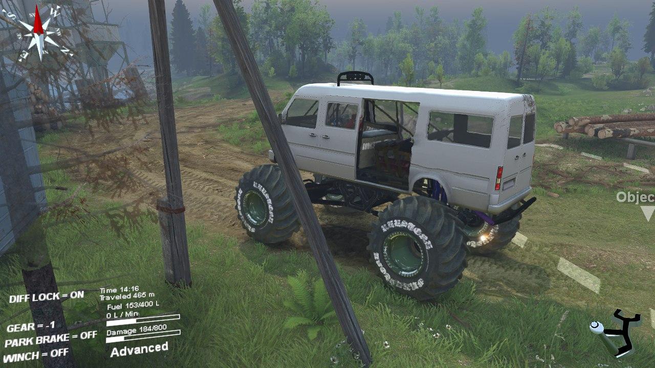Minibus для бета версии 22.07.15 для Spintires - Скриншот 3