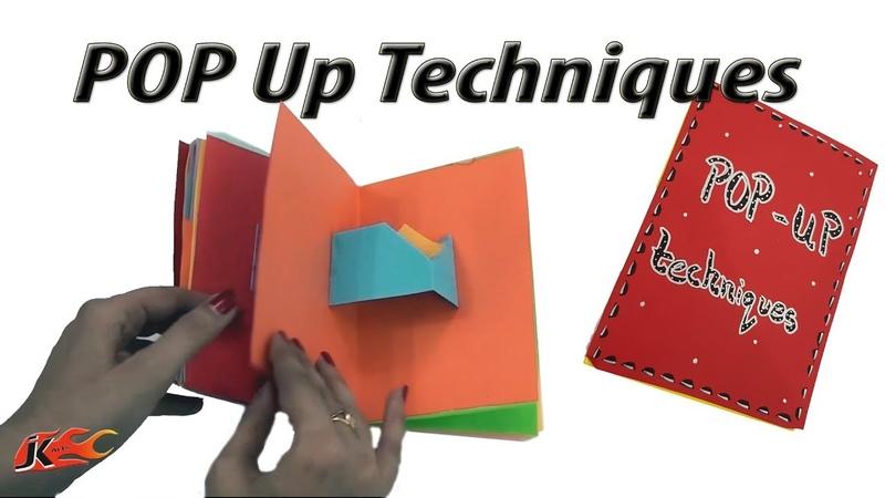 23 Pop ups card Techniques | DIY Popup Scrapbook | JK Arts 1389 MothersDayCraft