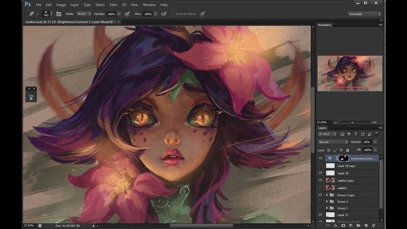 Neeko - League of Legends Digital Painting Process   Speedpainting
