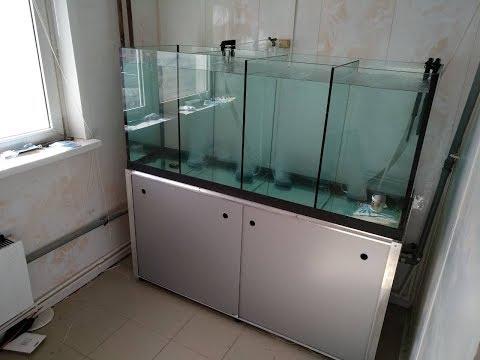 500л аквариум для продажи раков С тумбой металлокаркас и оборудованием