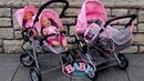 Baby Born Twin Jogger Duplex Pram Dolls Pram Stroller Baby Annabell Baby Dolls