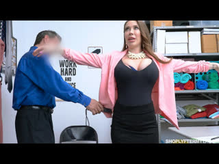Охранник заставил раздеться сисястую дамочку (Bianca Burke,инцест,milf,минет,секс,анал,мамку,brazzers,PornHub,порно,зрелую)