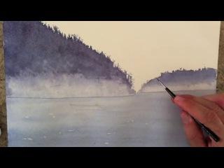 Как нарисовать морской пейзаж акварелью