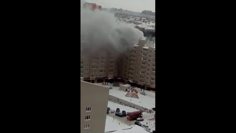 Пожар на Билецкого 01 03 2018