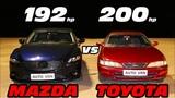 И где новые технологии! MAZDA 6 2.5 vs TOYOTA CARINA 2.0. ГОНКА!!!