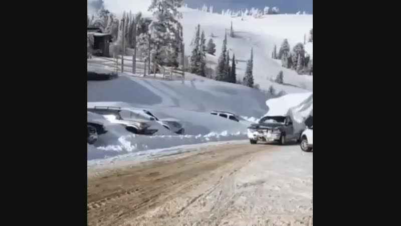 Крутой зимний тюнинг авто