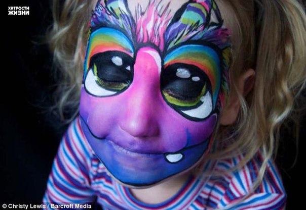 El bodi-arte infantil sobre la persona También por el tema