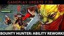 Dota 2 NEW 7.20 Patch - Bounty Hunter: Ability Rework