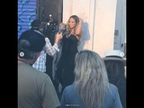 Mariah Carey Filming Her New Music Video