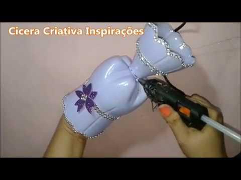 Diy | Jarro com garrafa pet | Cicera Criativa Inspirações | Garrafa pet