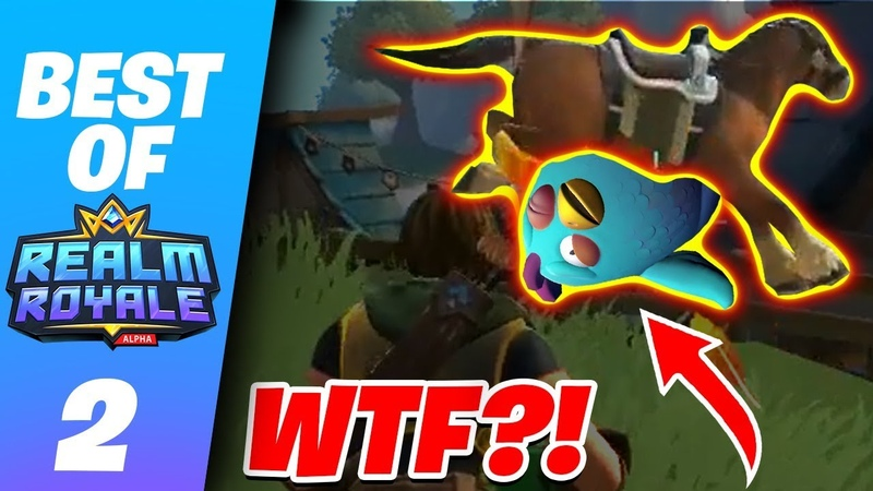 EPIC HORSE RIDING CHICKEN GLITCH?! - Realm Royale Funny Epic Moments 2