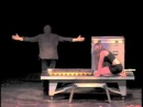 Magician Andy Gross performs Backstage Magic Illusion w' Frisco Fred