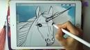 ✨Как нарисовать единорога на Ipad в Procreate✨ Мастер класс/ урок/ туториал по рисованию Unicorn