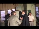 Пореченков и Никитин в здании бывшей фабрики Маяк