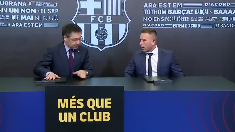 FULL STREAM ¦ Arthurs unveiling as a Barça player